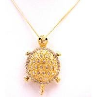 N917 Gold Turtle Pendant Brooch Charming Addition To Any Collection Turtle Pendant Necklace