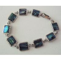 TB067  Rectangular Bracelet With Abalone Shell Affordable Gift