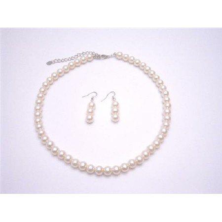 UNS031  Ivory Pearls Jewelry Set Beautiful Pearls Bridemaids Necklace Set Wedding Jewelry Set