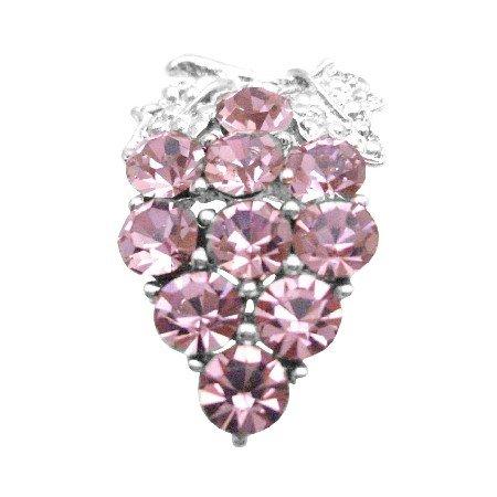 B408  Crystals Brooch Cake Brooch Prom Jewelry Lite Rose Crystals Brooch Pin