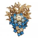 B563  Fashionable Brooch Affordable Jacket Dress Brooch Indicolite Crystals