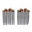 HA591  Fascinate Crystals Butterfly Hair Comb Hair Accessories Jewelry