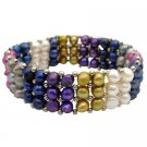 UBR247  Multicolored Freshwater Pearls Bracelet Absolutely Stunning Gift