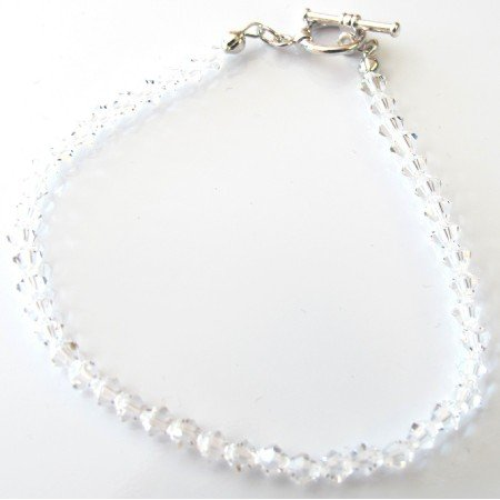 TB090  Wedding Bridal Clear Crystals Bracelet Swarovski Crystals Bracelet
