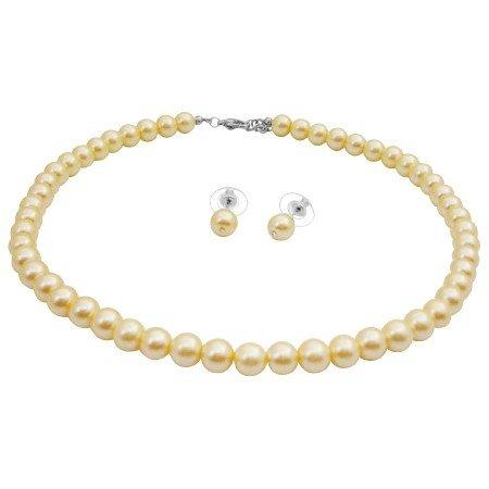 NS987  Pale Yellow Jewelry Beautiful Sleek Jewelry Stud Earrings Set