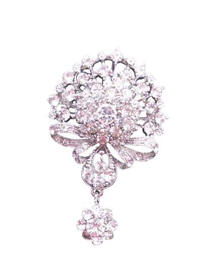 B163 Cubic Zircon Brooch Sparkling Diamond Brooch Simulated Diamond Dangling Brooch