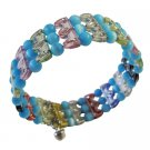 UBR041  Very Cool Soothing Colored Beads! Comfortable Stretchable Bracelet