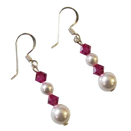 UER538  Customize Bridemaids Gift Swarovski Pearls Crystals Earrings