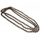 UNE335  Jewelry Long Necklace Glass Beads Champagne