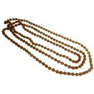 UNE331  Fabulous Summer Collection In Mocha Glass Beads Summer Long Necklace