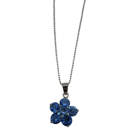 UNE320  Are You Looking Flower Pendant Shop Fashion Jewelry Gifts