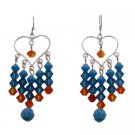 ERC725  Colorful Swarovski Crystals Earrings For Prom