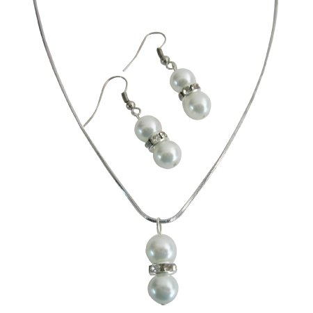 NS1060  Personalized Birthday Party Favors White Pearls Jewelry