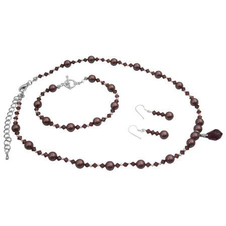 BRD1002  Handmade Elegance Burgundy Jewelry Match Jewelry With Your Wedding Dress