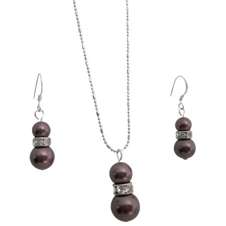 NSC808  Extremely Beautiful Prom Fashion Jewelry Burgundy Pearls