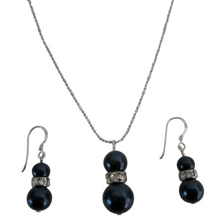 NSC822  Superb Gift Christmas Birthday Night Blue Pearls Jewelry