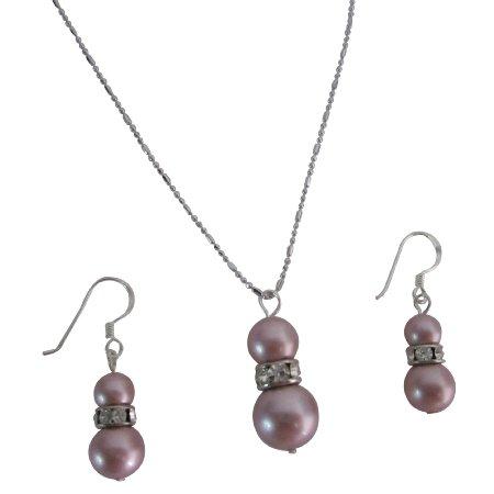 NSC823  Fashion Jewelry For Everyone Shop Wedding Powder Rose
