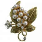 B593  Breathtaking Gift Glitter Brooch & Pearls