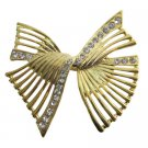 B584  Shop The Latest Sashes Golden Bow Brooch
