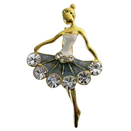B602  Ballet Dancer Brooch Vintage Dancer Brooch