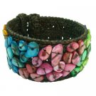TB1001  Stylish Trendy cotton cuff Bangle Multicolor Nuggets Bracelet