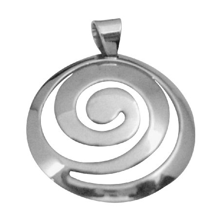 SPEN023 Multi Round Pendant w/ Stamped 92.5 Genuine Sterling Silver Pendant Weight 5 gms