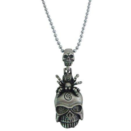 Halloween Gift Free Shipping Scorpion On Skull Head Pendant