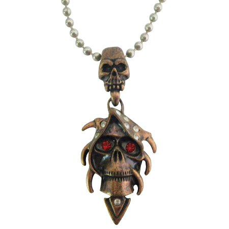Shop Best Collection For Halloween Jewelry Copper Skull Pendant