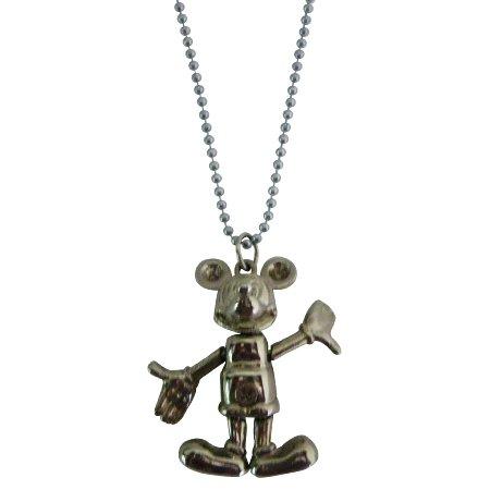 Walt Disney Jewelry Movable Micky Mouse Necklace