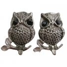 Cute Owl Earrings Beautiful Engraved Silver Oxidized Silver Owl Earrings
