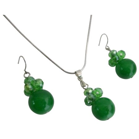 Jewelry Inspiration For Bridesmaid In Green Color