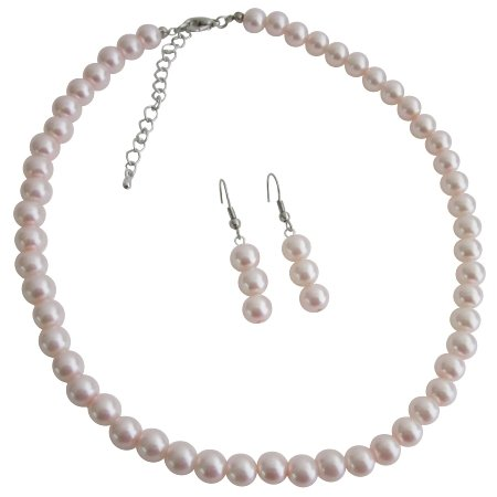 Custom Junior Bridesmaid Jewelry For Younger Bridesmaids Pale Pink