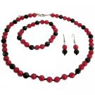 Holiday Gifts Idea Gorgeous Jewelry Red Black Beads