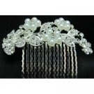 Bridal Pearls comb Wedding Accessories Flower Rhinestones Pearls