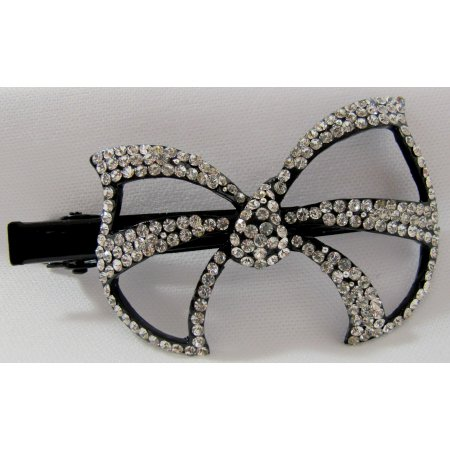 Hair Accessory Bow Clip With rhinestone