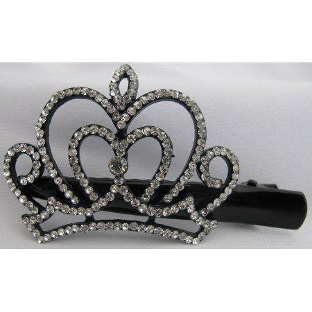 Rhinestone Curvy Crown Hair Clip Graduation Hair Accessory