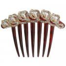 Fancy Hair Comb In Freshwater Pearls & rhinestone Wedding Hair Comb