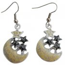 Girls Return Gift Earring Very Stunning Earrings With Yellow Moon Stars