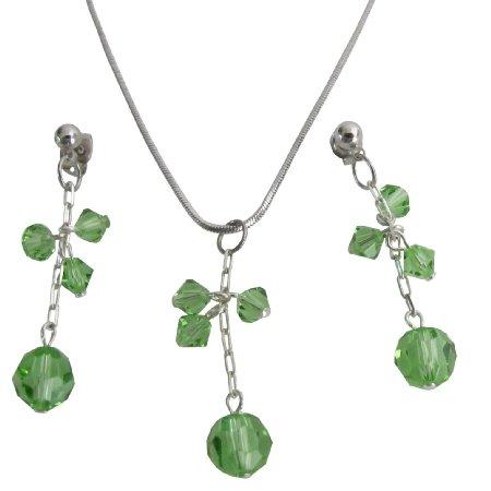 Romantic Gift For Girlfriend Peridot Crystal Cool Stunning Jewelry