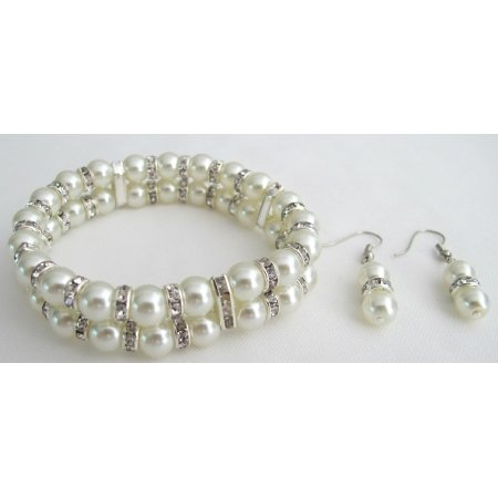 TB1146  Affordable Elegance Bridal Accessories Bracelet Daimond Sparkling With Earrings
