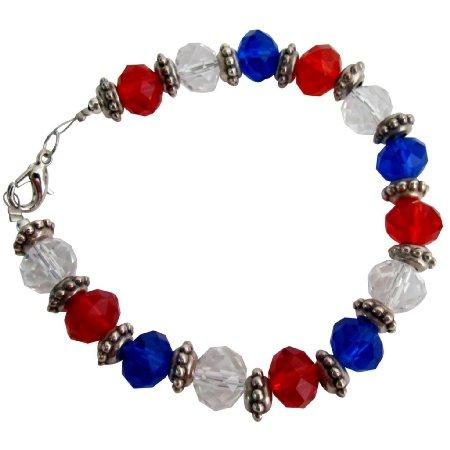TB1119  Love USA 4th Of July Celebrate Patriotic Day - Stunning Bracelet