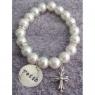GC493  Christian Jewelry Faith Bracelet with Cross Charm