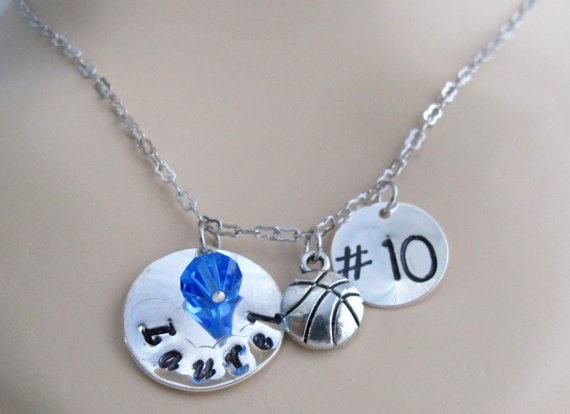 Sale Personalized BasketBall Jewelry Coach Gift Player Number Girls Basketball Team Gift Necklace