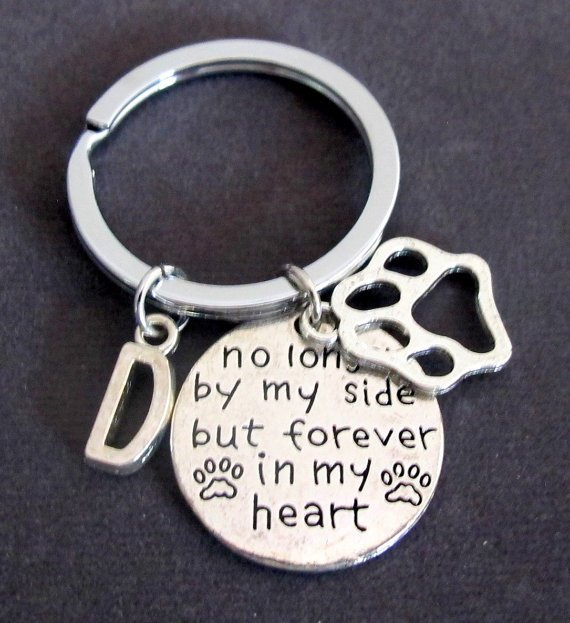 No Longer By My Side But Forever In My Heart,Dog Memorial,Personalized Dog Keychain