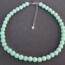 Mint Green pearl necklace,Mint Green necklace,Wedding Necklace,Spring jewelry