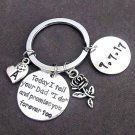 Step Daughter Key Chain,Daughter of the Groom,Gift from Bride,Today I tell your