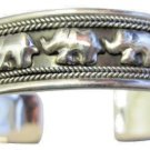 Elephants on Parade Sterling Silver 92.5 Cuff Bracelet