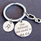She believed she could so she did,Nurse Gift Keyring Nursing Graduation Keychain