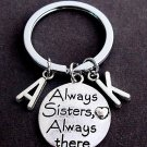 Always Sisters Always there charm Key Chain,Sister Keychain,Sisters gift jewelry