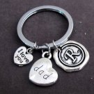 Father's Day Gift,I Love you Dad Keychain,Dad Keyring,Grandpa Gift,Step Dad Gift